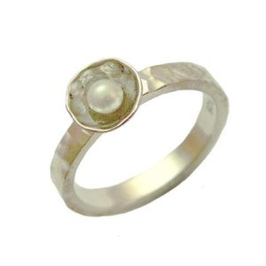 Handmade Sterling Silver Pearl Ring - Baltinester Jewelry