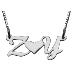 Lovers / Friends Initial Name Necklace - Baltinester Jewelry