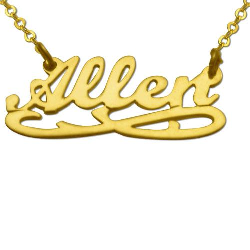 Gold Plated Eternity Name Necklace - Baltinester Jewelry
