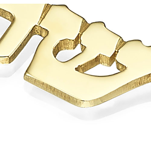 14k Gold Name Necklace Triple Thickness 4 - Baltinester Jewelry