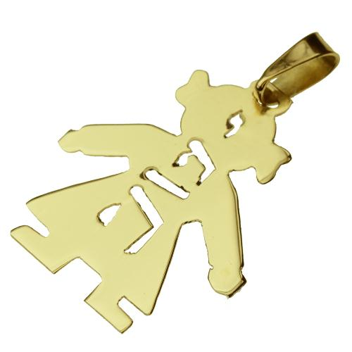 14k Gold Girl Name Pendant - Baltinester Jewelry