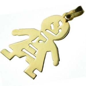 14k Gold Boy Name Pendant - Baltinester Jewelry