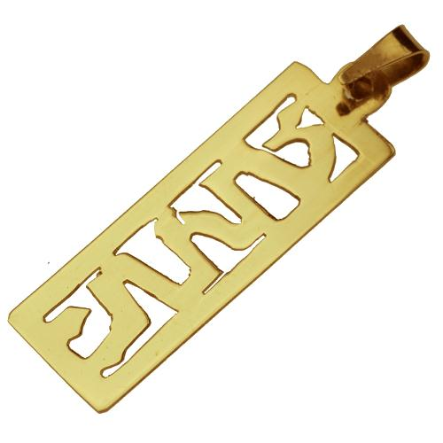 14k Gold Mezuzah Name Pendant - Baltinester Jewelry
