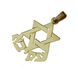 14k Gold Star Of David Name Small Pendant - Baltinester Jewelry