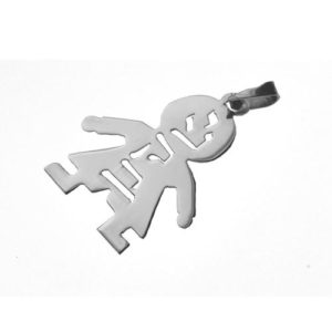 Silver Name Boy Pendant - Baltinester Jewelry