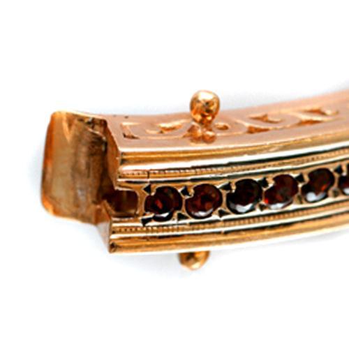 14k Rose Gold and Garnet Bracelet 4 - Baltinester Jewelry
