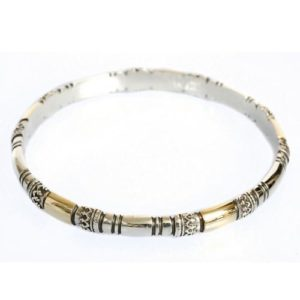 Ethnic Silver & Gold Filigree Bracelet - Baltinester Jewelry