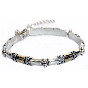 Silver and Gold Yemenite Bracelet - Baltinester Jewelry