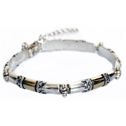 Silver and Gold Yemenite Bracelet - Baltinester Jewelry