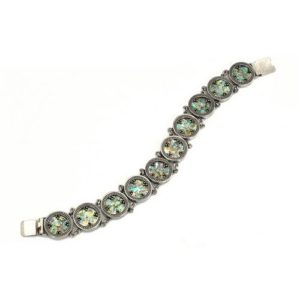 Sterling Silver Roman Glass Bracelet - Baltinester Jewelry