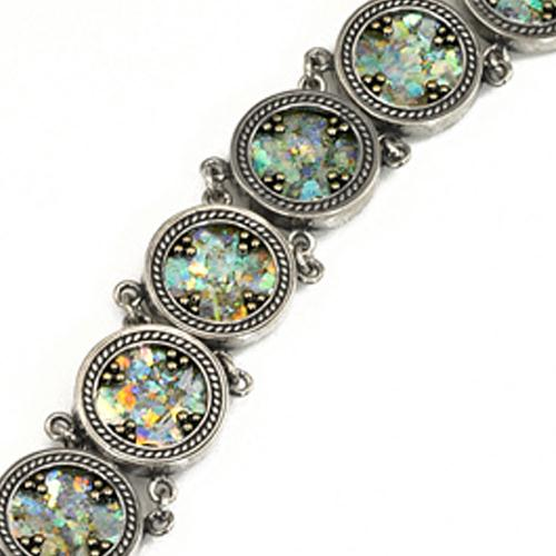 Sterling Silver Roman Glass Bracelet 2 - Baltinester Jewelry