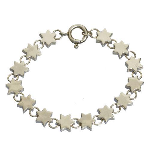 Silver Star of David Charm Bracelet - Baltinester Jewelry