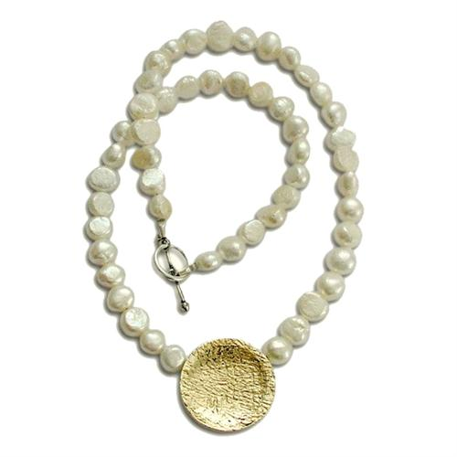 Silver and Gold Pearl Chain Necklace - Baltinester Jewelry