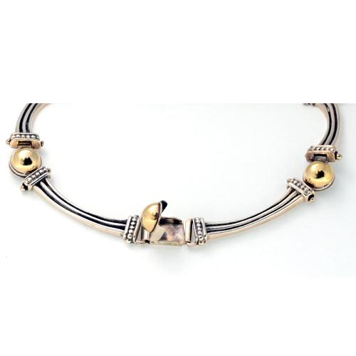 Silver and Gold Ethnic Necklace 2 - Baltinester Jewelry