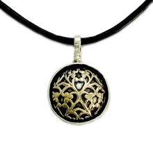 Silver and Gold Filigree Lace Necklace - Baltinester Jewelry