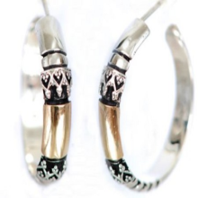 Silver and Gold Hoop Earrings - Baltinester Jewelry