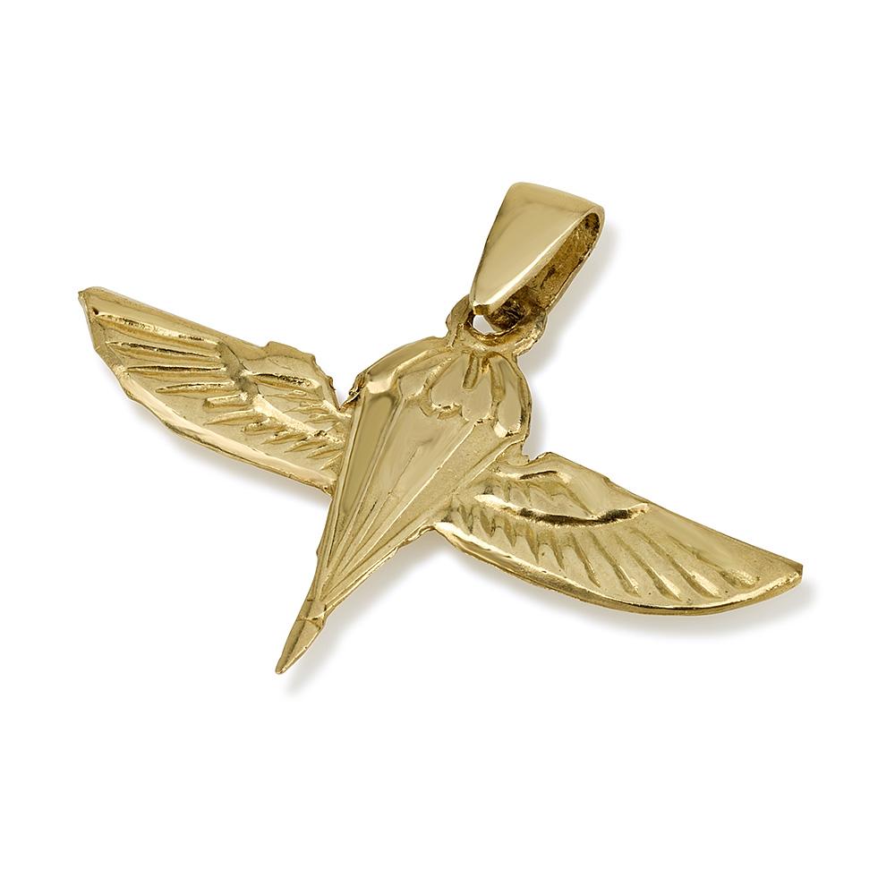 Israel Army Pendant 14k Yellow Gold - Baltinester Jewelry