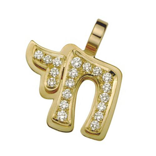 18k Yellow Gold Diamond Hai Pendant - Baltinester Jewelry