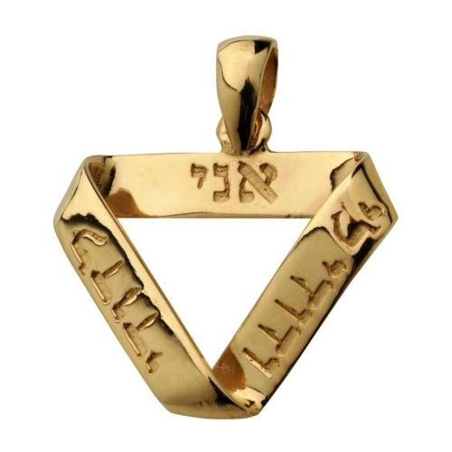 14k Gold Ani L'Dodi Infinity Pendant - Baltinester Jewelry