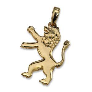 14k Gold Large Lion of Judah Pendant - Baltinester Jewelry