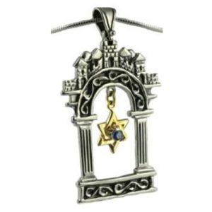 Gate of Jerusalem Star of David Pendant - Baltinester Jewelry