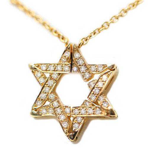 14k Gold Diamond Expandable Star of David Necklace - Baltinester Jewelry