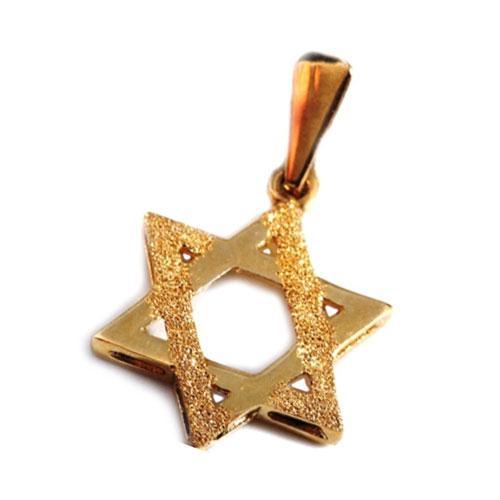 14k Gold Stardust Star of David Pendant - Baltinester Jewelry