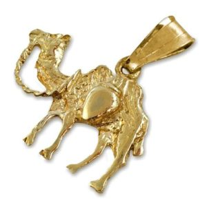 14k Gold Camel Pendant - Baltinester Jewelry