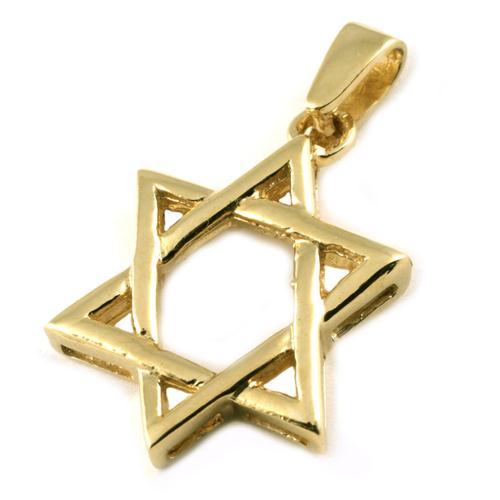14k Gold Woven Star of David - Baltinester Jewelry