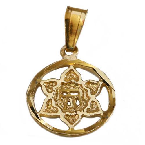14k Gold Star of David Chai Pendant - Baltinester Jewelry