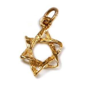14k Gold Braided Star of David Pendant - Baltinester Jewelry