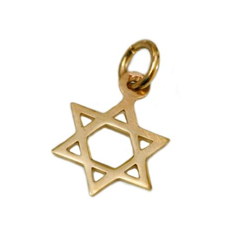 14k Gold Classic Star of David Charm Pendant - Baltinester Jewelry