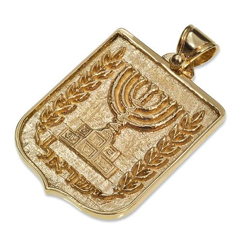 14k Gold Emblem of Israel Pendant - Baltinester Jewelry