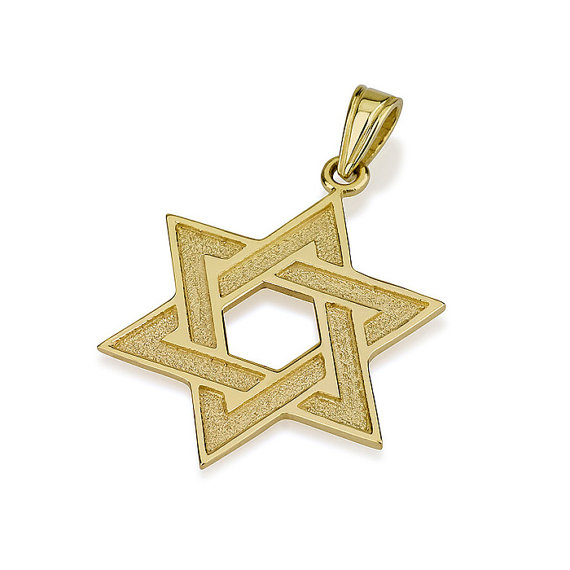 Florentine Star of David 14k Gold Pendant - Baltinester Jewelry