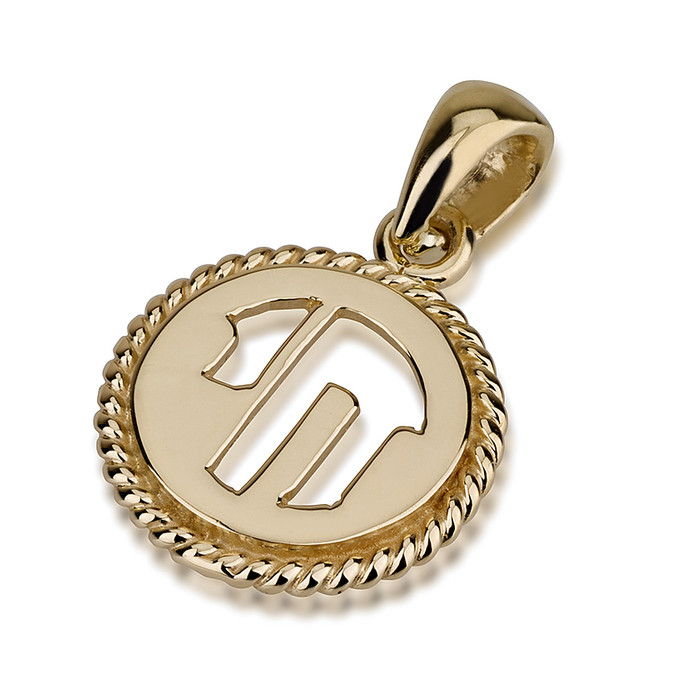 14k Yellow Gold Hai Coiled Medallion - Baltinester Jewelry