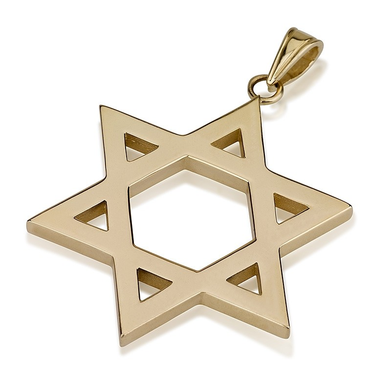 Large 14k Star of David Pendant - Baltinester Jewelry