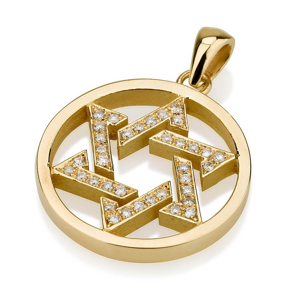 Interwoven Diamond Star of David - Baltinester Jewelry