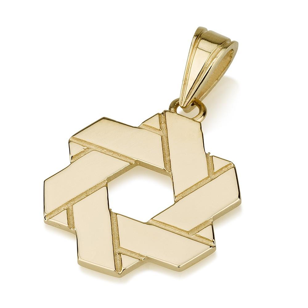 Jerusalem Stone Star of David Pendant - Baltinester Jewelry