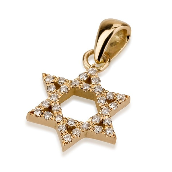 Diamond Encrusted 18k Star of David Charm - Baltinester Jewelry