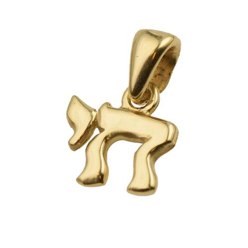 14K Gold Classic Mini Chai Pendant - Baltinester Jewelry
