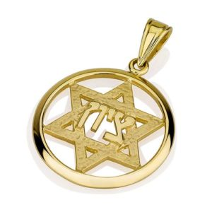 14k Gold Hammered Star of David Jerusalem Pendant - Baltinester Jewelry