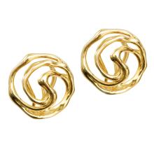 14k Gold Modern Filigree Earrings - Baltinester Jewelry