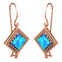 14k Rose Gold Yemenite Opal Earrings - Baltinester Jewelry