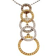 18k Gold and Diamond Necklace - Baltinester Jewelry