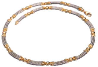 14k White & Yellow Gold Diamond Necklace - Baltinester Jewelry