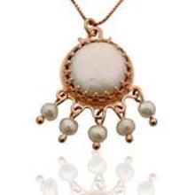 14k Rose Gold Chandelier Pendant - Baltinester Jewelry