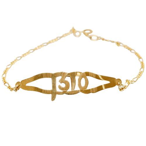 14k Gold Leaf Name Bracelet - Baltinester Jewelry