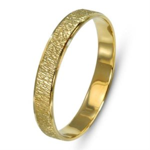 14k Gold Vertical Florentine Wedding Band - Baltinester Jewelry