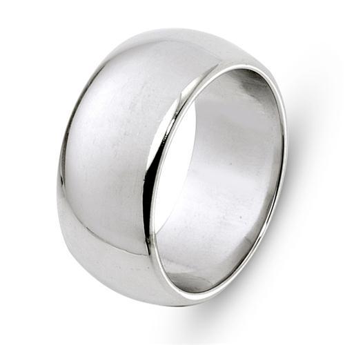 14k White Gold Shiny Wedding Ring - Baltinester Jewelry