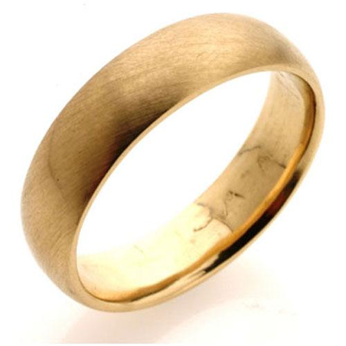 Yellow Gold Comfort Fit Wedding Ring - Baltinester Jewelry
